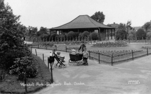 old photo of wormholt park