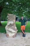 Shane and his sculpture